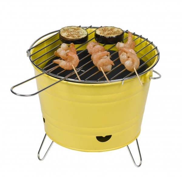 Home & Garden Outdoor Cooking & Eating Barbecue Bucket With Chrome-plated Barbecue Grid Ø 27 Cm