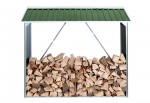 Firewood Shelter green
