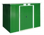 Metal Shed Pent Roof 8x4 green